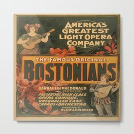 Vintage poster - Hurly Burly Extravaganza and Refined Vaudeville Metal Print