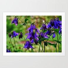 Purple Petals in the Rain Art Print