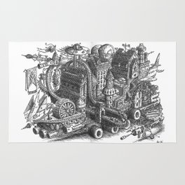 The City & Roller Coaster Caravan moving Rug