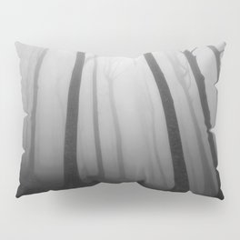 The Eerie Forest (Black and White) Pillow Sham