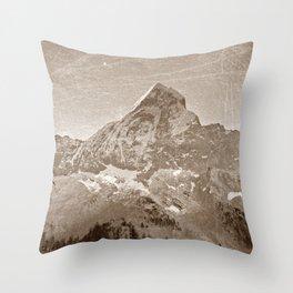 Vintage landscape photography sepia  Throw Pillow