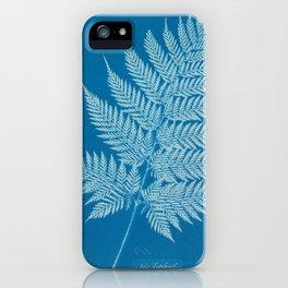 Fern Cyanotype, 1800s iPhone Case