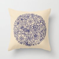 circle Throw Pillows featuring Circle of Friends by micklyn