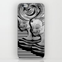 anxiety iPhone & iPod Skins featuring anxiety by Ela Caglar