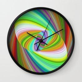 Happy summer ellipse magic Wall Clock