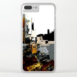 Rust Belt Abstract 1 Clear iPhone Case