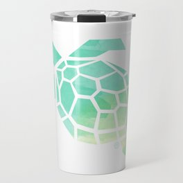 green sea turtle, watercolor, geometric & minimalism Travel Mug