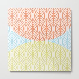 Leaf Motif Collection: 3 Colour of Summer Metal Print