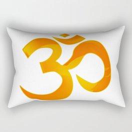 Orange Om Rectangular Pillow