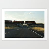 Train Crossing Art Print