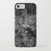 maryland iPhone & iPod Cases featuring Baltimore map Maryland by Line Line Lines