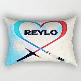 Reylo - Heartsaber - Blue/Red Rectangular Pillow