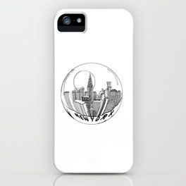 THE CITY of New York in a Suspended Bowl . Artwork iPhone Case
