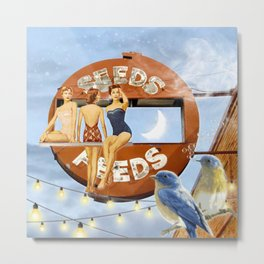 Summer Eve At The Seeds & Feeds Metal Print