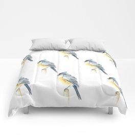 Watercolor bird pattern Comforters