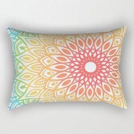 Rainbow Colored Mandala Rectangular Pillow