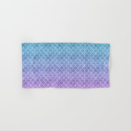Mermaid Scales in Cotton Candy Hand & Bath Towel