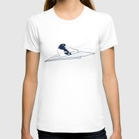 notebook T-shirts featuring Flying Away by Tobe Fonseca