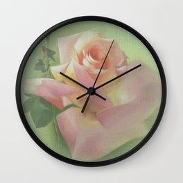 Vicorian Roses Neck Gator Pink Roses on Canvas Wall Clock