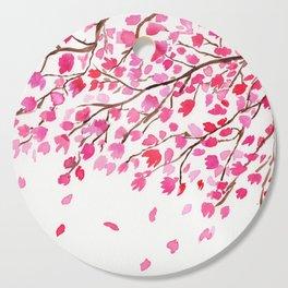 Rain of Cherry Blossom Cutting Board