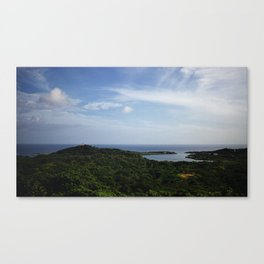 View of the Bay of Honduras from Roatan Canvas Print