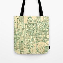 London! Cream Tote Bag