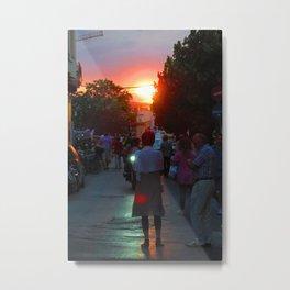 Sunset in Athens Metal Print