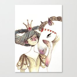 Moondance and pegasus Canvas Print