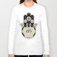 hamsa Long Sleeve T-shirts featuring Hamsa by Joel Amat Güell