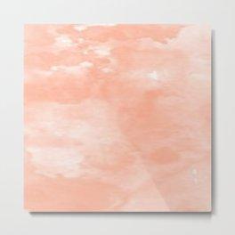 Beautiful Peach Art Metal Print