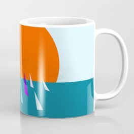 Minimal regatta in the sun Coffee Mug