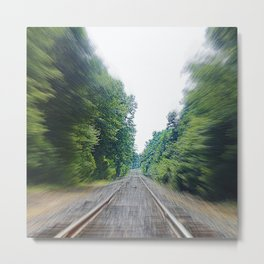 TRAIN TRACKS Metal Print