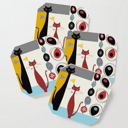 Mid-Century Modern Art Cats Coaster
