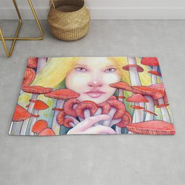 Keeper of the Scarlet Garden Rug