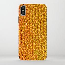 Yellow honey bees comb iPhone Case