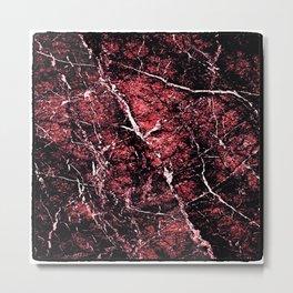 Red Marbled stamp Metal Print
