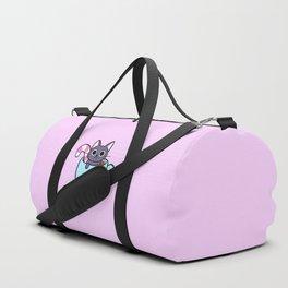 Winter Cocoa Cat Duffle Bag