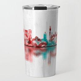 Algiers Algeria Skyline Travel Mug