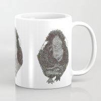 guinea pig Mugs featuring Guinea Pig. by Elena O'Neill