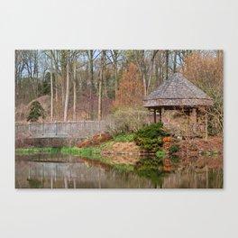 Brookside Bridge & Gazebo Canvas Print