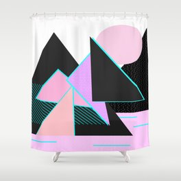Hello Mountains - Moonlit Adventures Shower Curtain