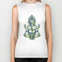 ganesh Biker Tanks featuring Ganesh by Scalifornian