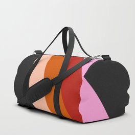 Retro Rainbow Stripes Duffle Bag