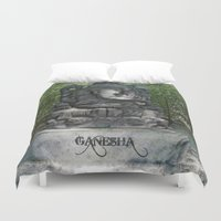 ganesha Duvet Covers featuring Ganesha by Lucia