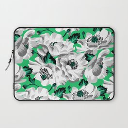 Mount Cook Lily - Green/White Laptop Sleeve
