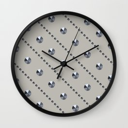 "Illustration .   "" Diamonds"" . Wall Clock"