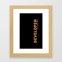 Developer Eat Sleep Code Framed Art Print