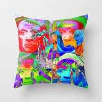 picasso Throw Pillows featuring Pop Picasso by Joe Ganech