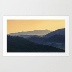 Sunrise at the Smoky's Art Print