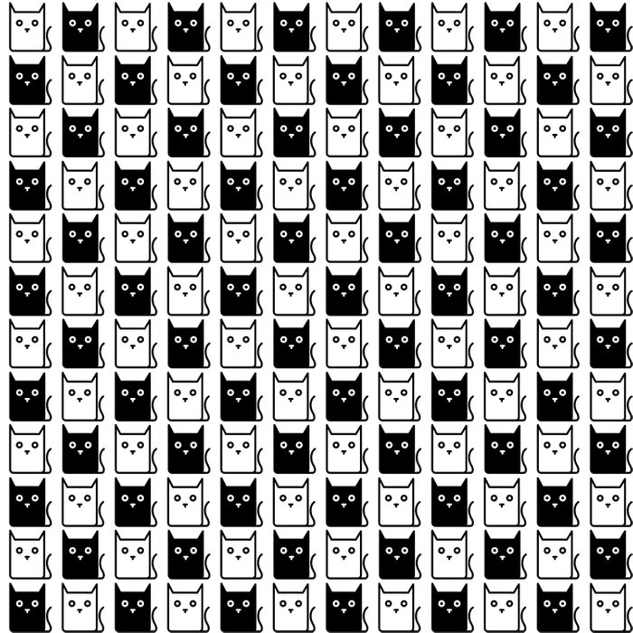 A Chess of Cats Duvet Cover